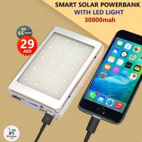 Solar 30000mAh Power Bank With LED Light...