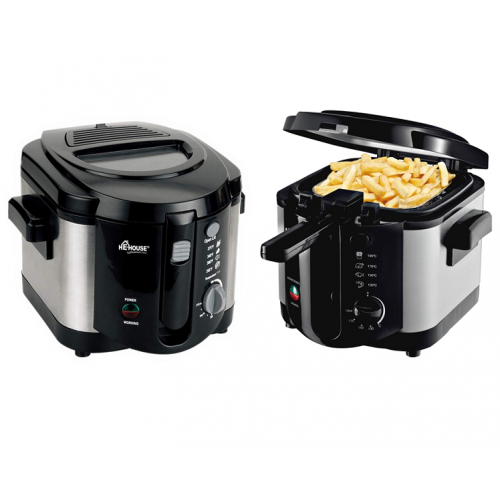 He-House 5L Electric Deep Fryer. Black - HE-DF-5211-B-PBL