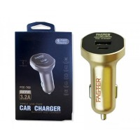 FASTER Type-C USB Port Car Charger 3.2A -FCC-700