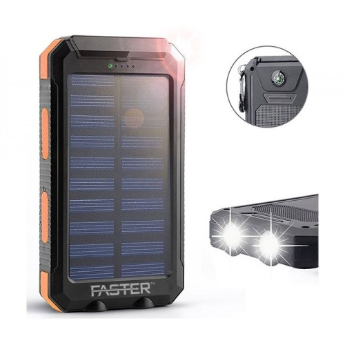 FASTER Solar Plus LED Power Bank 10000 mAh-SP-10