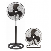 "He-House 18"" 2 IN 1 Air Circulator Stand Fan [Black]"