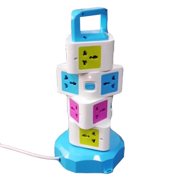 Multifunction Vertical Extension Power Sockets For 3-Pin & 2-Pin plugs