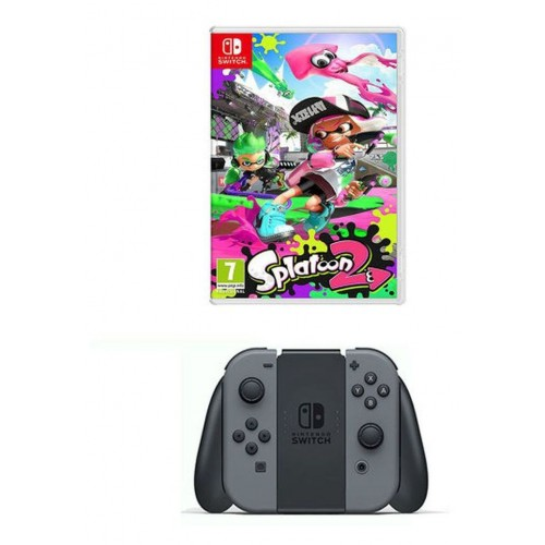 Nintendo Switch 32 GB, Grey, 2-in-1 Joy Con Controllers with Splatoon 2