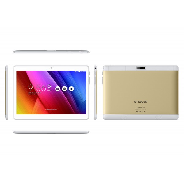 S-color U100, dual SIM, 3GB, 32GB, 4G Android 7.0 [Gold]