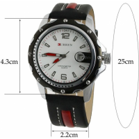 Curren Dial Shape Round Watch Black [8120]