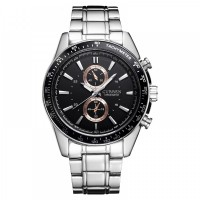CURREN Man Watch Round Dial Metal Band Watch with Water Resistance and Stainless steel [M8010]