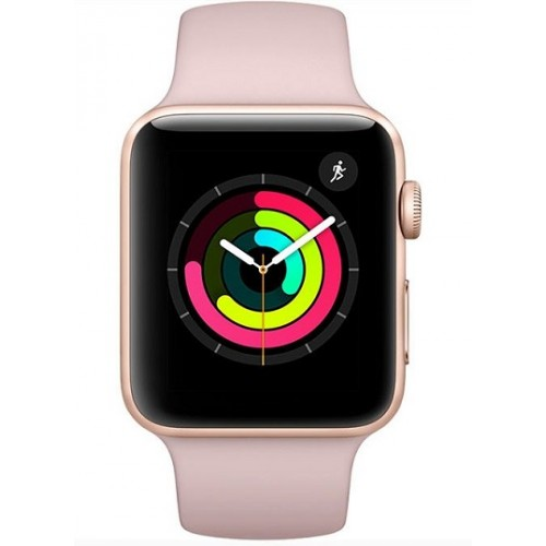 Apple Watch Series 3 - MQL22 - GPS - 42mm Gold Aluminum Case with Pink Sand Sport Band