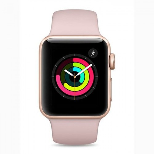 Apple Watch Series 3 - MQKW2 - GPS - 38mm Gold Aluminum Case with Pink Sand Sport Band