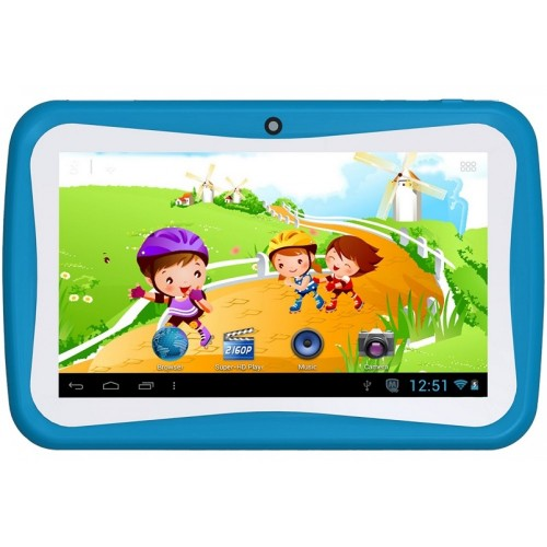 CCIT K7, Kids Tablet 1GB RAM, 16GB Storage [Blue]