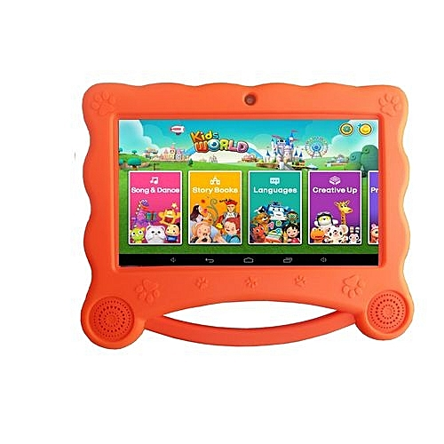 "CCIT K8, Kids Tablet, 7"" inch, 1GB RAM, 16GB Storage, Orange"