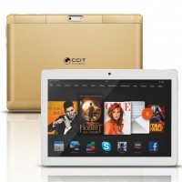 "CCIT T9 Max Tablet, 3GB RAM, 32GB Storage, Dual Sim,10.1"", Gold"