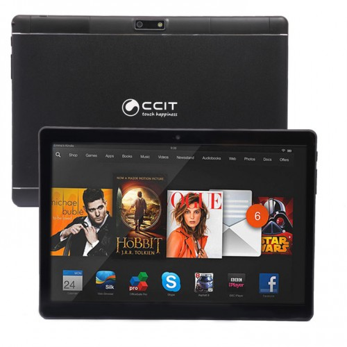 "2 In 1 CCIT T9 Max Tablet, 3GB RAM, 32GB Storage, 10.1"" With i7s Wireless Music Earbuds"