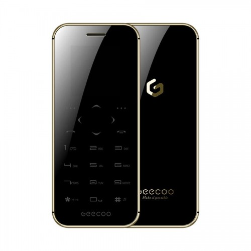 GEECOO MINI 1 Thinnest Touch-Button Double Sided Mirror Phone [Black]