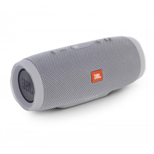 JBL Charge 3 Waterproof Portable Bluetooth Speaker (Grey)