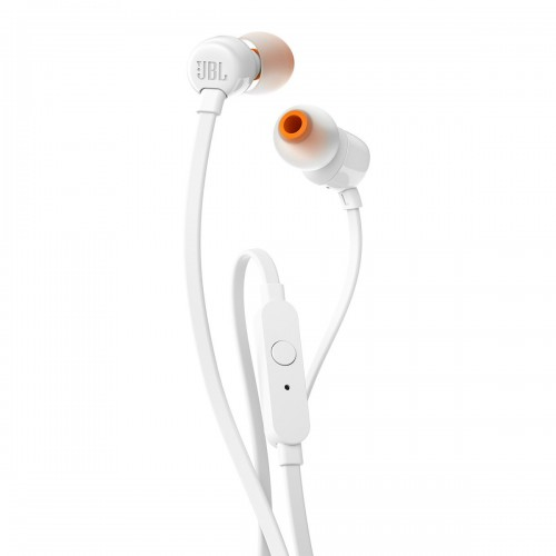 JBL T110 In-Ear Headphones with Mic [White]