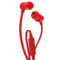 JBL T110 In-Ear Headphones with Mic [Red]
