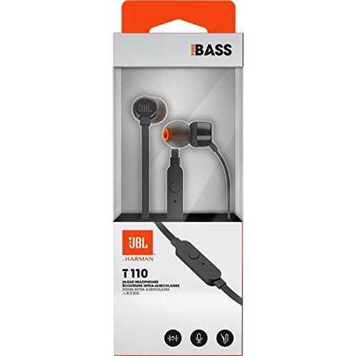 JBL T110 In-Ear Headphones with Mic [Black]