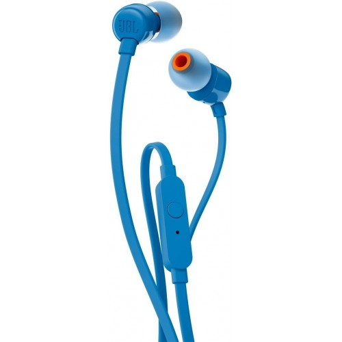 JBL T110 In-Ear Headphones with Mic [Blue]