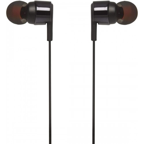 JBL T210 Pure Bass in-Ear Headphones with Mic [Black]