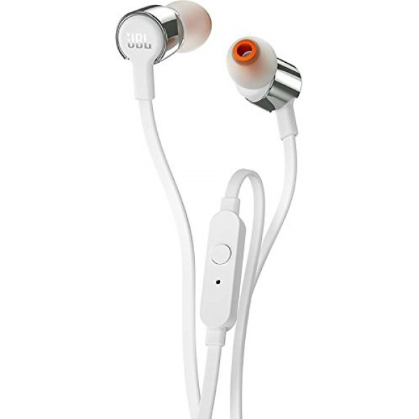 JBL T210 Pure Bass in-Ear Headphones with Mic [White]