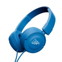 JBL T450 On-Ear Headphones with Mic [Blue]