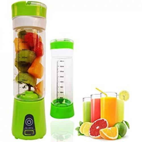 4 Blades USB Rechargeable Portable Electric Fruit Juicer Smoothie Blender, 380ml