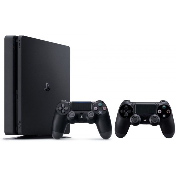 Wireless Controllers Sony PlayStation 4 500GB Slim with 2 Dual Shock