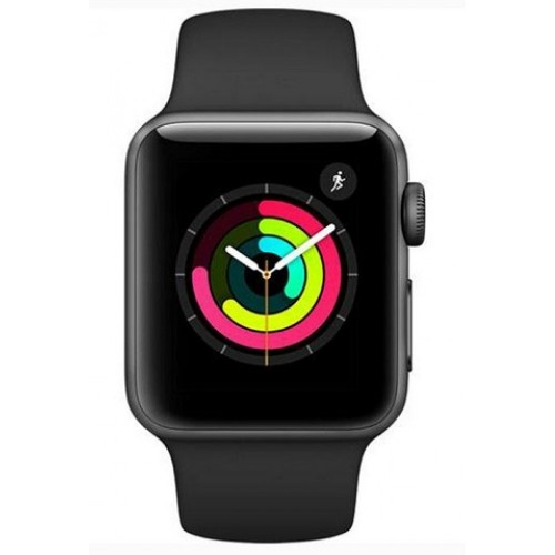 Apple Watch Series 3 -GPS -38mm Aluminum Case with Black Sport Band [MQKV2]
