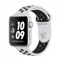 Apple Watch Series 3 Nike+ Silver Aluminum Case with Pure Platinum/Black Nike Sport Band [MQL32]