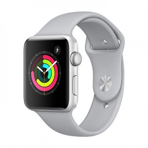 Apple Watch Series 3 -GPS - 42mm Silver Aluminum Case with Fog Sport Band [MQL02]