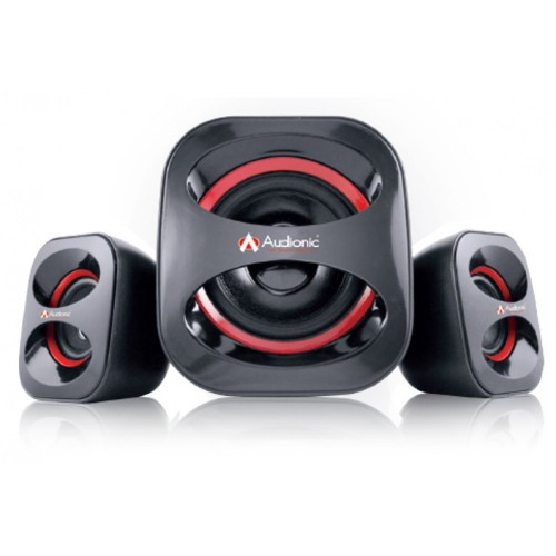 Audionic Glance G-5 USB Powered Speakers 2.1 Channel [Black/Red]