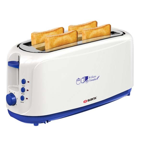 4 Slice Toaster with Cool Touch [White]