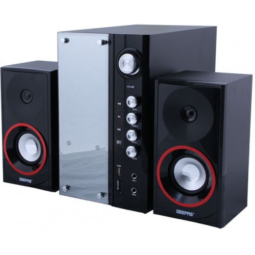 Geepas 2.1 Channel Home Theater System - GMS8440 (Black & Silver)