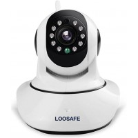 LOOSAFE 1080P WiFi Home Security Camera Pan/IP Cam,F2 2-Way Audio/Tilt Smart Video Baby Monitor Night Vision