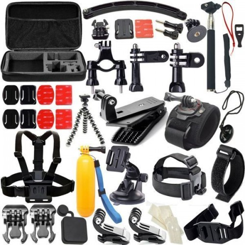 Action Camera Accessories 50-In-1Outdoor Sports Kit for GoPro Hero4/3/2/1Common Camcorder Bundles