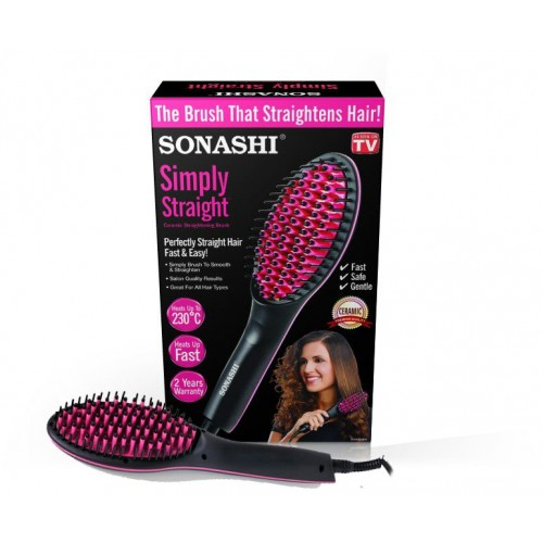 [Sonashi Simply Straight Hair Brush Straightener]