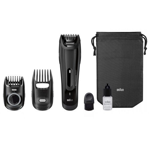 [Braun BT5070 Beard Trimmer With 2 Comb Attachments + Soft Bag]