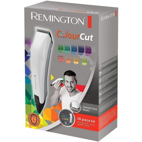 [Remington ColourCut Mens Hair Clipper Trimmer Shaver Kit Set with 9 Combs HC5035]