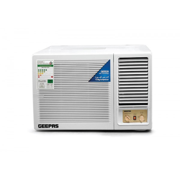 Geepas Window AC with T3 big compressor, 1.5 Ton - GACW18047PIA