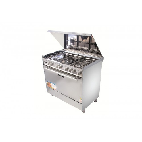 Geepas 5 burners on top with electric ignition Cooking Range 90X60 S/S - GCR9061FPSRC