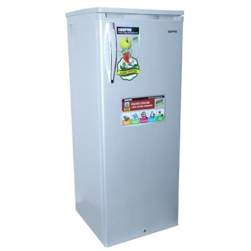 Geepas Single Door 250-Liter Refrigerator - GRF2504SXE [Grey]