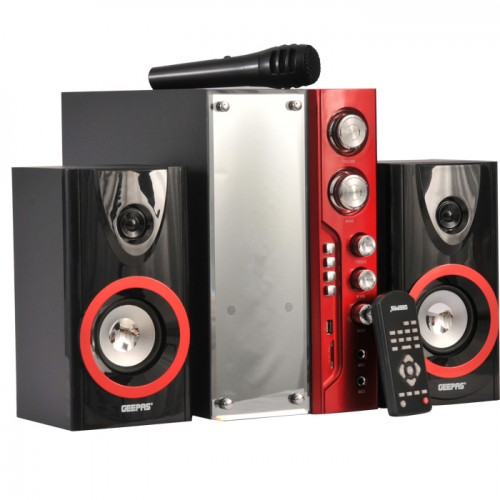 Geepas 2.1 Channel Multi-Media Speaker System with USB/SD Card Slots and FM Radio - GMS8439