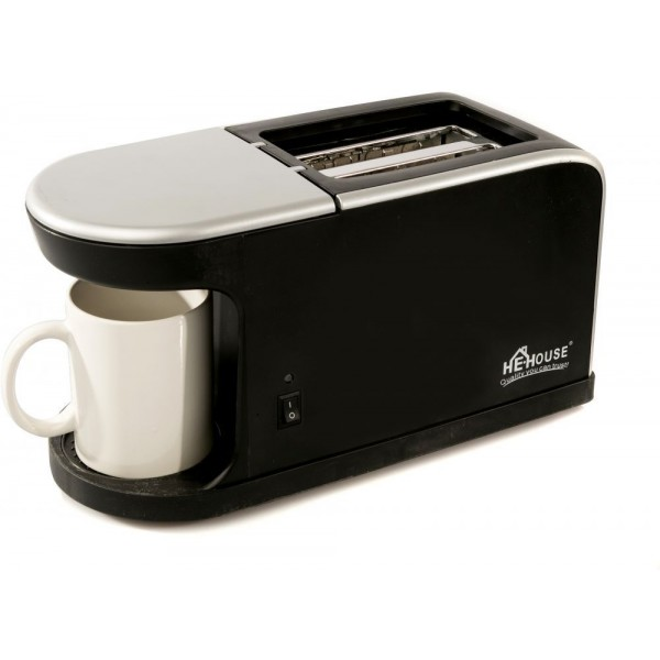 He-House Toaster with Coffee Maker HE-1562, Black