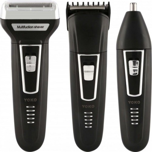 Yoko Rechargeable 3 in 1 Shaver, Hair Clipper & Nose Shaver - YK-6558