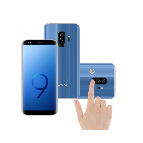 "S-COLOR S9+ 4GB RAM 64 GB Storeage FaceID & FingerPrint Lock 6"" IPS Display , 16MP Camera ,blue"