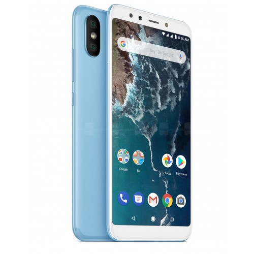 Xiaomi Mi A2 Dual Sim , Dual Camera, - 64GB, 4GB RAM, 4G LTE, Blue [Global version]