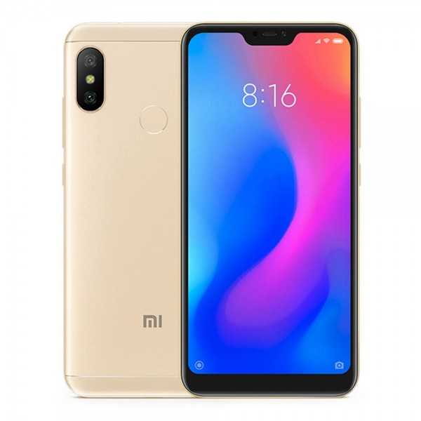 Xiaomi Redmi Note 6 Pro, Dual Sim, Dual Camera, - 64GB, 4GB RAM, 4G LTE, Gold - International Version