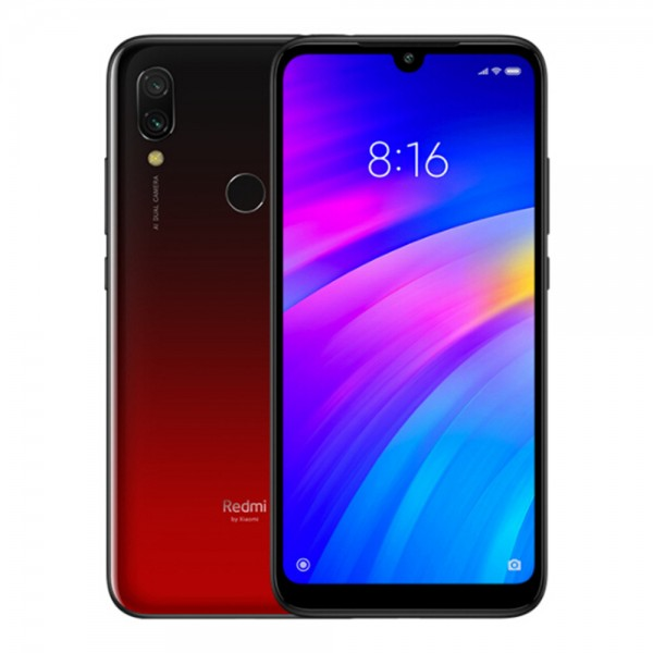 Xiaomi Redmi 7, Dual Sim, Dual Camera, - 64GB, 3GB RAM, 4G LTE, Red - International Version