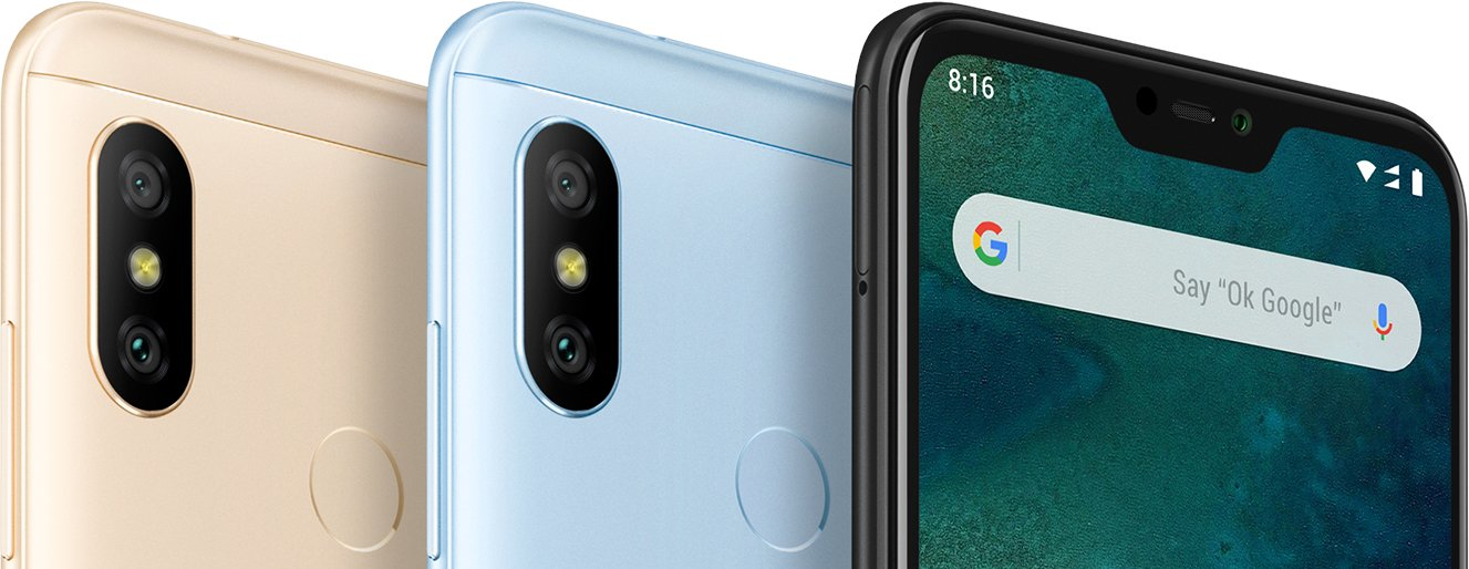 Xiaomi Mi A2 Lite Dual Sim , Dual Camera, - 64GB, 4GB RAM, 4G LTE, Gold  [Global version]